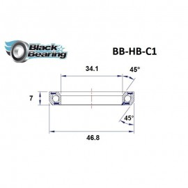 BLACK BEARING - C1 - ROULEMENT DE JEU DE DIRECTION